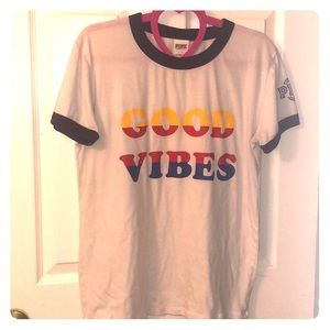 "PINK ""GOOD VIBES"" T-shirt size LARGE"